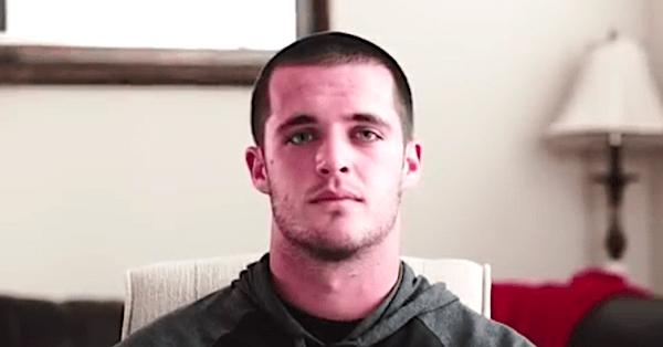 NFL quarterback Derek Carr