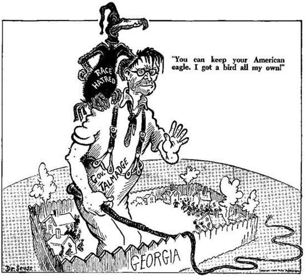 Theodor Seuss Geisel Cartoon