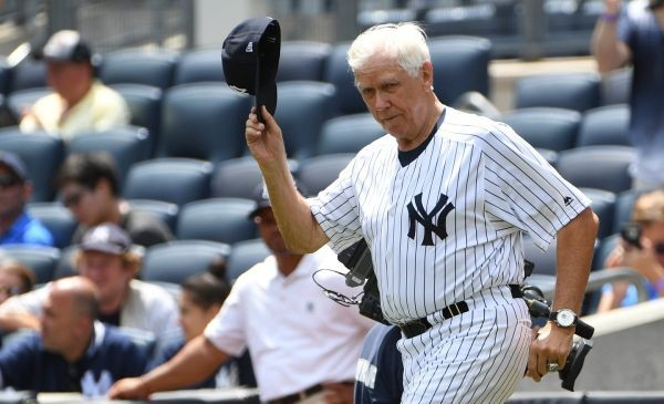 "Former New York Yankees player, manager and general manager Gene ""Stick"" Michael, Old-Timers' Day at Yankee Stadium, June 25, 2017. Photo: Kathleen Malone-Van Dyke"