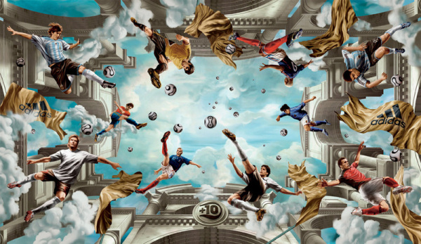 (No title – work by German group TBWA, commissioned by Adidas – soccer advertisement)