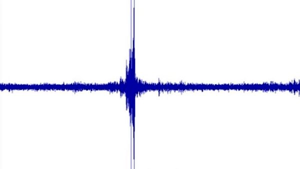 A sound graph from the U.S. Geological Survey's Lakeview Retreat near Centreville, Alabama, shows a loud boom heard over Alabama at about 1:39 p.m. CST on Nov. 14, 2017.