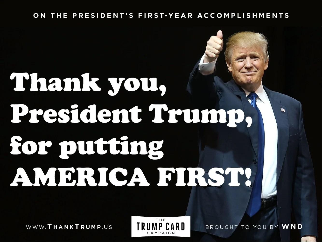 Thank Trump Card #3