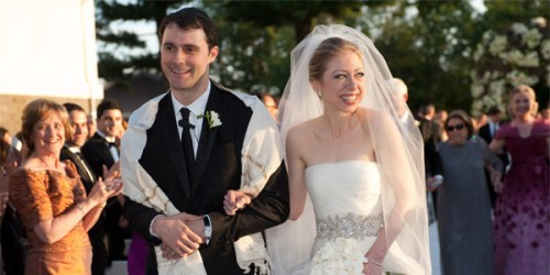 Chelsea Clinton weds Jewish investment banker Marc Mezvinky in a $3 million wedding in July 2010
