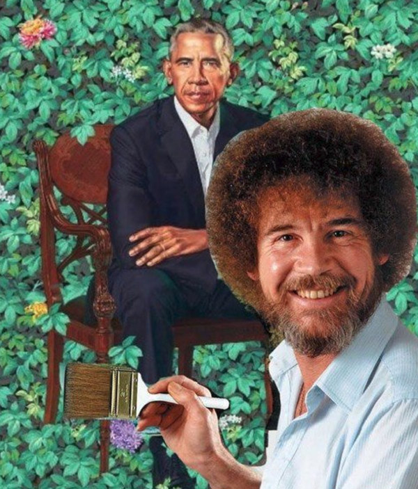 Image result for obama portrait memes