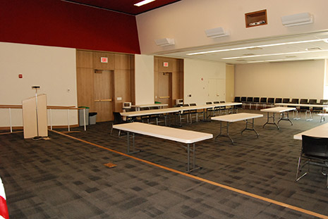Meeting Rooms A and B combined (divider open).