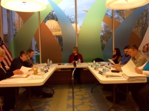 board meeting in storytime room