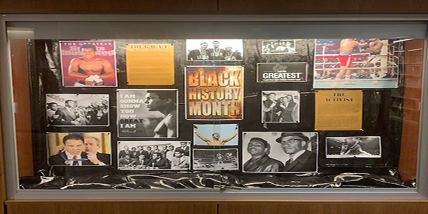 Lobby Display Case, Black History Month