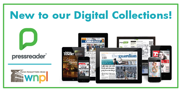 pressreader, magazines, newspapers, digital collections
