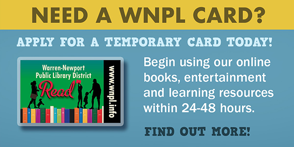 library card, temporary library card