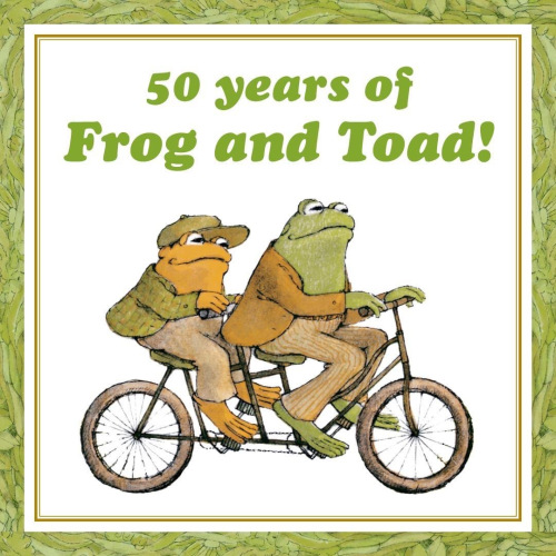 50 years of frog and toad! Frog and Toad riding a tandem bike