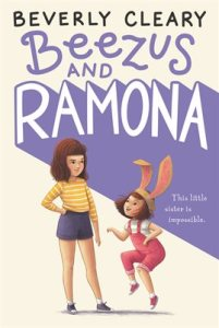Beezus grumpilly looks down at Romona in Bunny Ears