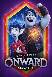 Animated movie poster with blue elves