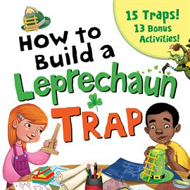 A white girl with red hair and a black boy build a trap