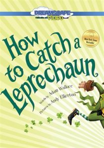 A leprechaun runs away