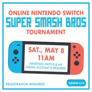 Nintendo Switch with Sat., May 8 11am in the screen