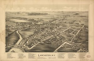 Lancaster NY Map from 1892