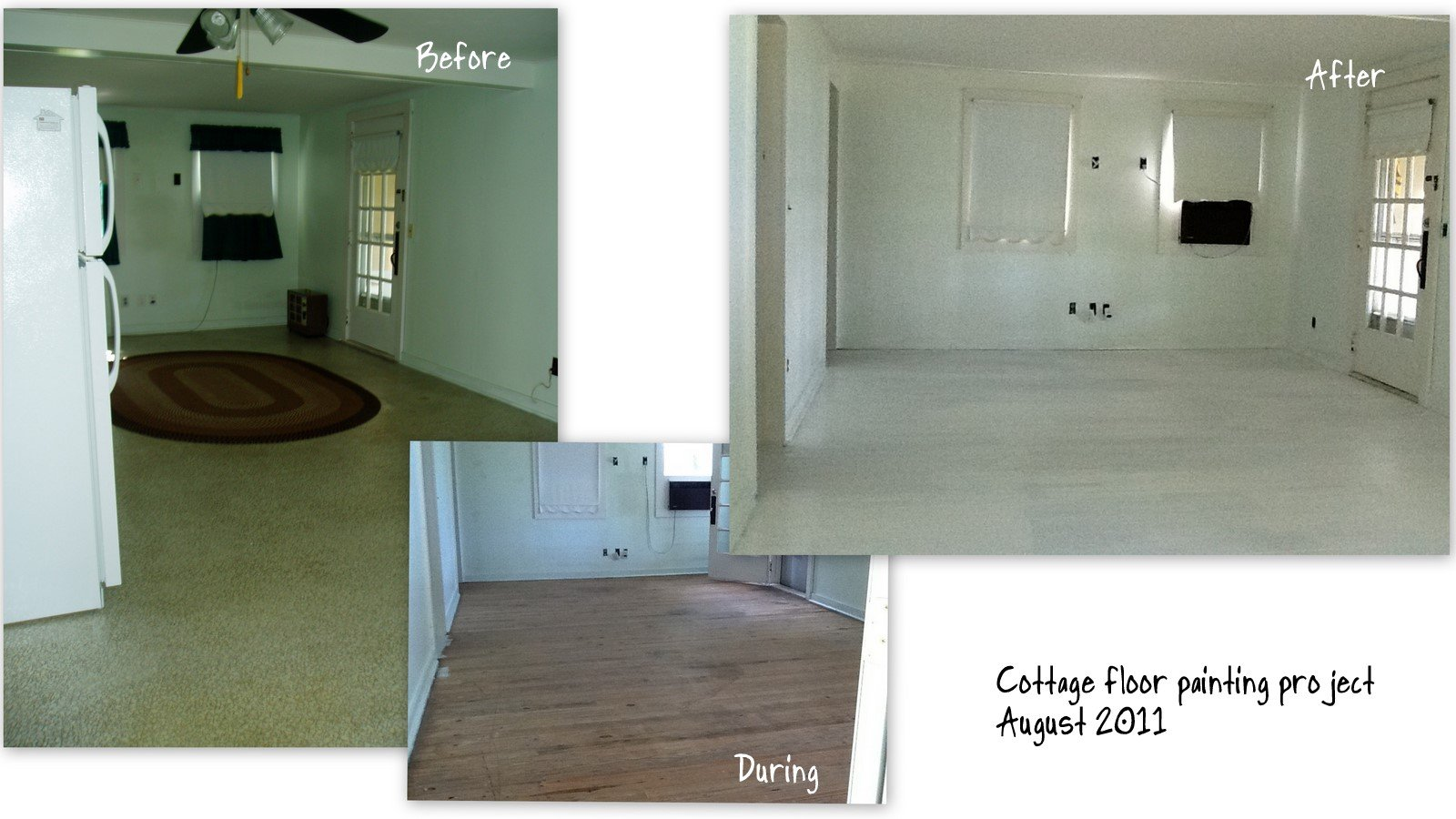 Painted wood floor project