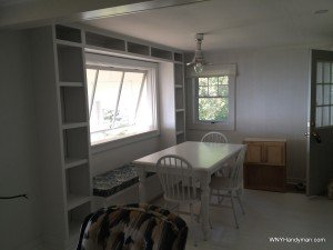 Window seat wall unit project