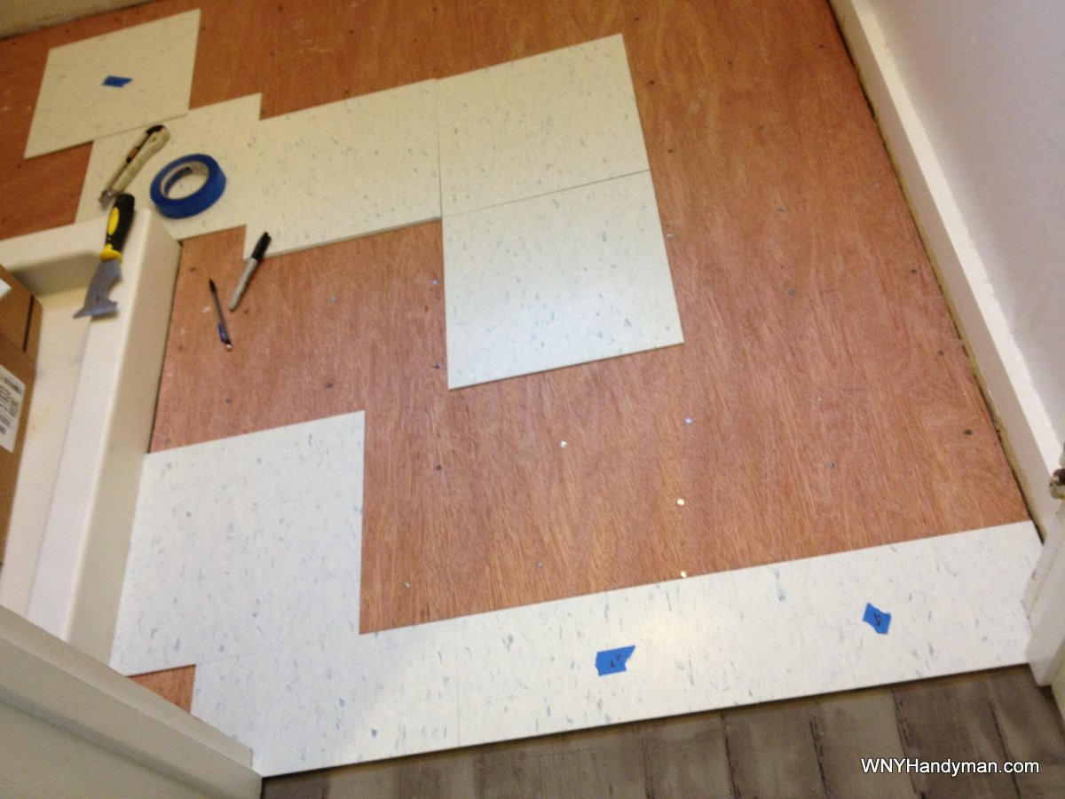 Installing vct tile six things they dont tell you wny handyman the layout of your floor is one of the most important aspects of your project a bad layout is a sure sign of an amateur having a full tile at one end dailygadgetfo Gallery