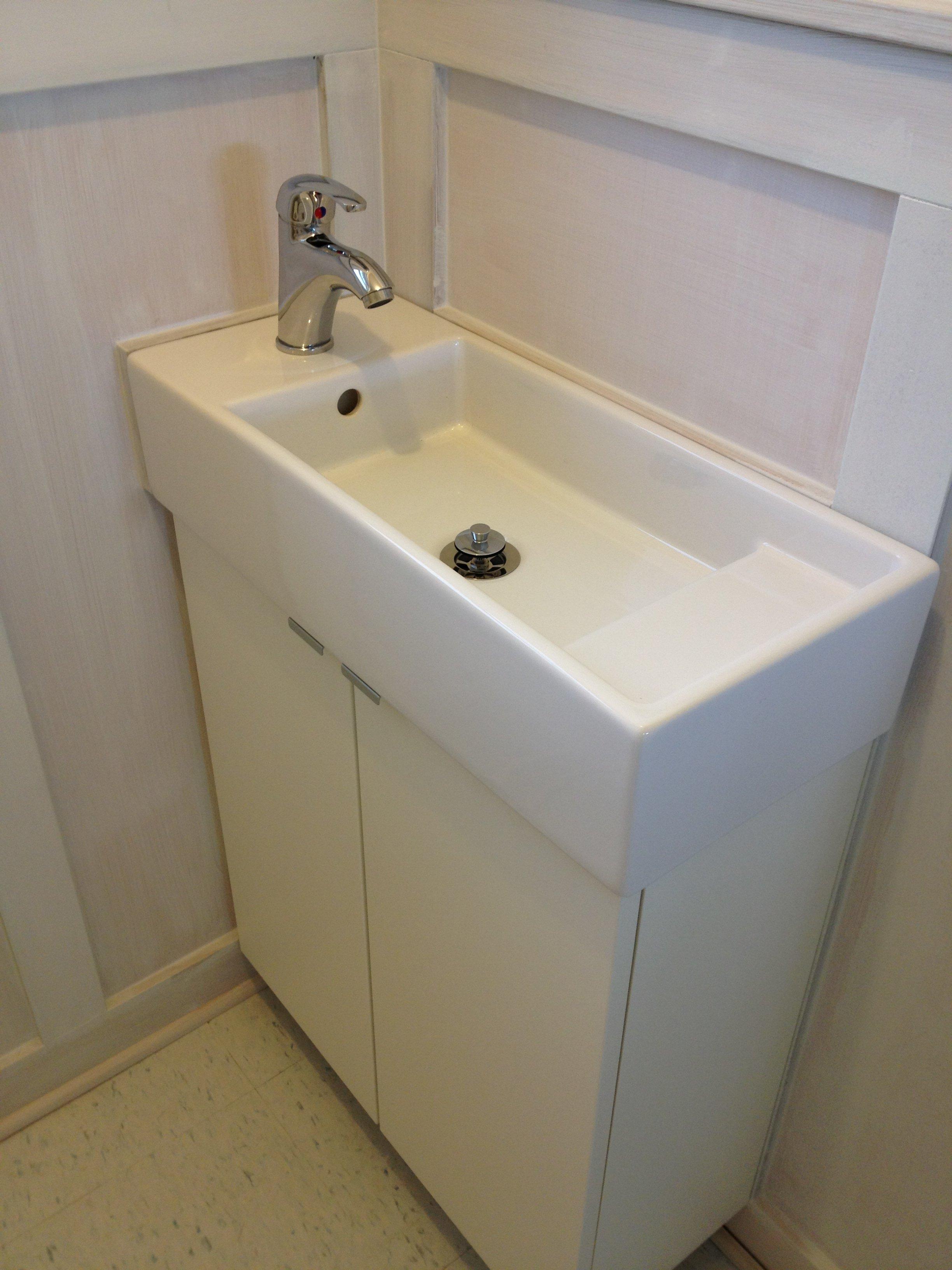 Ikea Small Bathroom Sink: Lillangen Sink From Ikea. With Krakskar Faucet