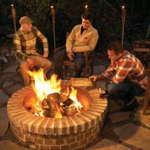brick firepit project