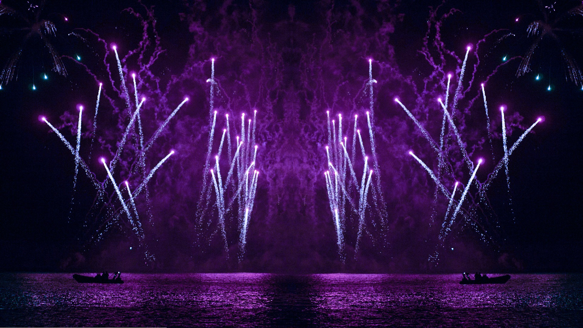 Purple Comets from Lake