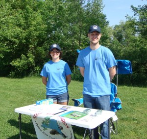 WNY PRISM Boat Stewards – Parker Everhart and Morgan Beatey. Photo Credit: WNY PRISM.