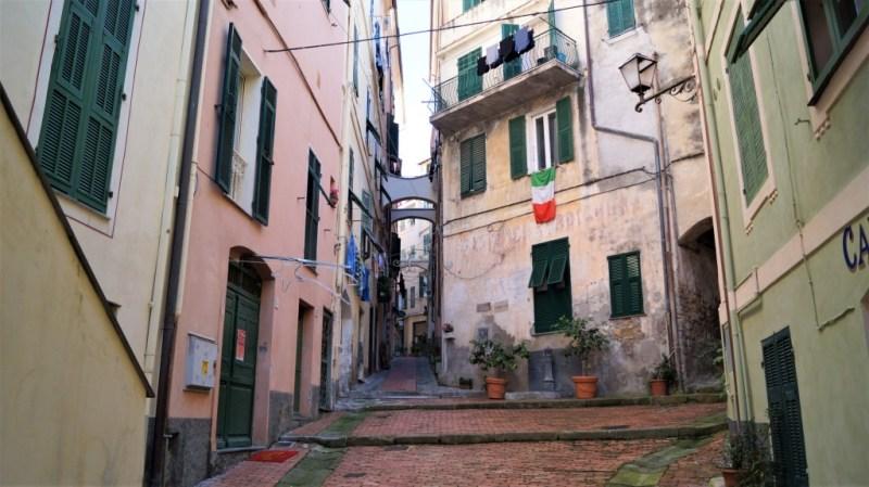 Altstadt von Bordighera - Italien im Winter