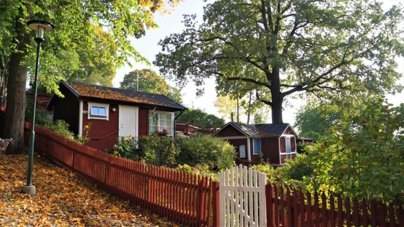bunte Häuser in Schweden