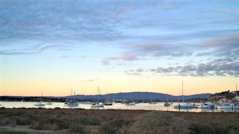 Sonnenuntergang am Hafen von Alvor