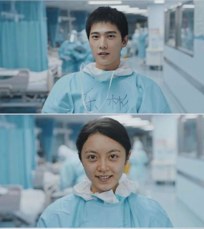 """%E6%9D%A8%E6%B4%8B%E8%B5%B5%E4%BB%8A%E9%BA%A6%E7%B4%A0%E9%A2%9C Yang Yang and Zhao Jinmai Play Doctors in CCTV's """"With You"""" COVID-19 Short Drama Series"""