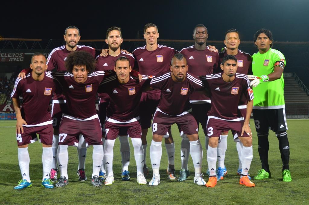 Once del Carabobo FC contra Portuguesa FC