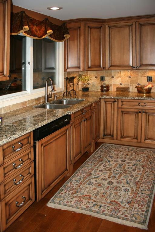 Tile Splashback Ideas Pictures: Kitchen Stone Backsplash ... on Maple Cabinets With Backsplash  id=73910