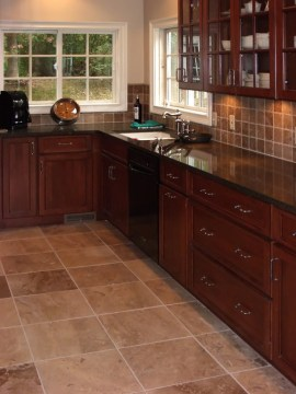 Explore St Louis Kitchen Tile Installation Kitchen Remodeling     Tile St  Louis   Matching Travertine Kitchen Floor   Kitchen Wall Tile    Cherry Kitchen