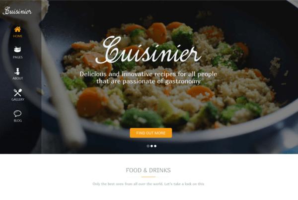 Cuisinier – Food Blog WordPress Theme