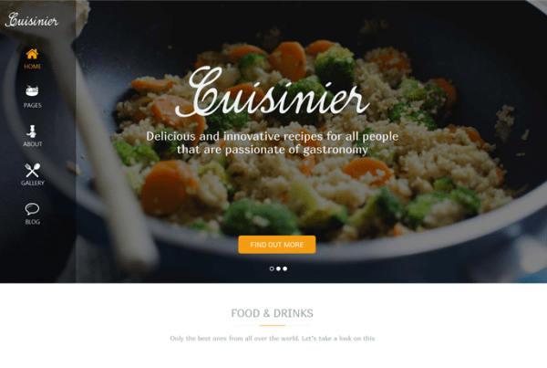 Cuisinier – Food Blog WordPress Theme