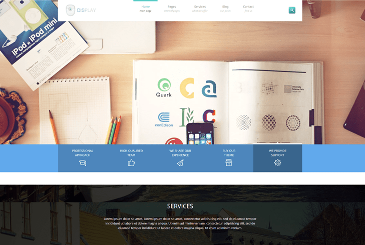 Display – Creative WordPress Theme