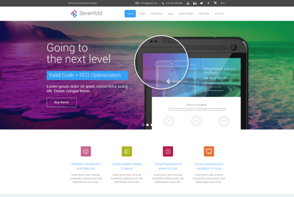 Sevenfold – Multipurpose WordPress Theme