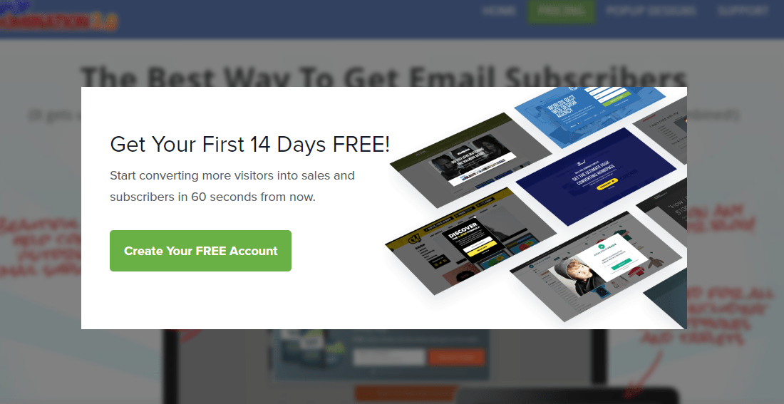 pop up domination email subscription plugins