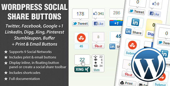 20 Best Social Media Plugins For WordPress WordPress Social Share Buttons