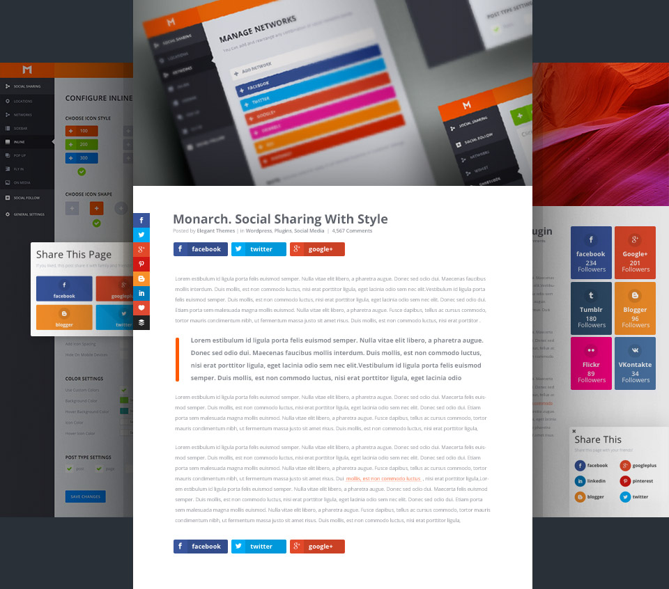20 Best Social Media Plugins For WordPress monarch
