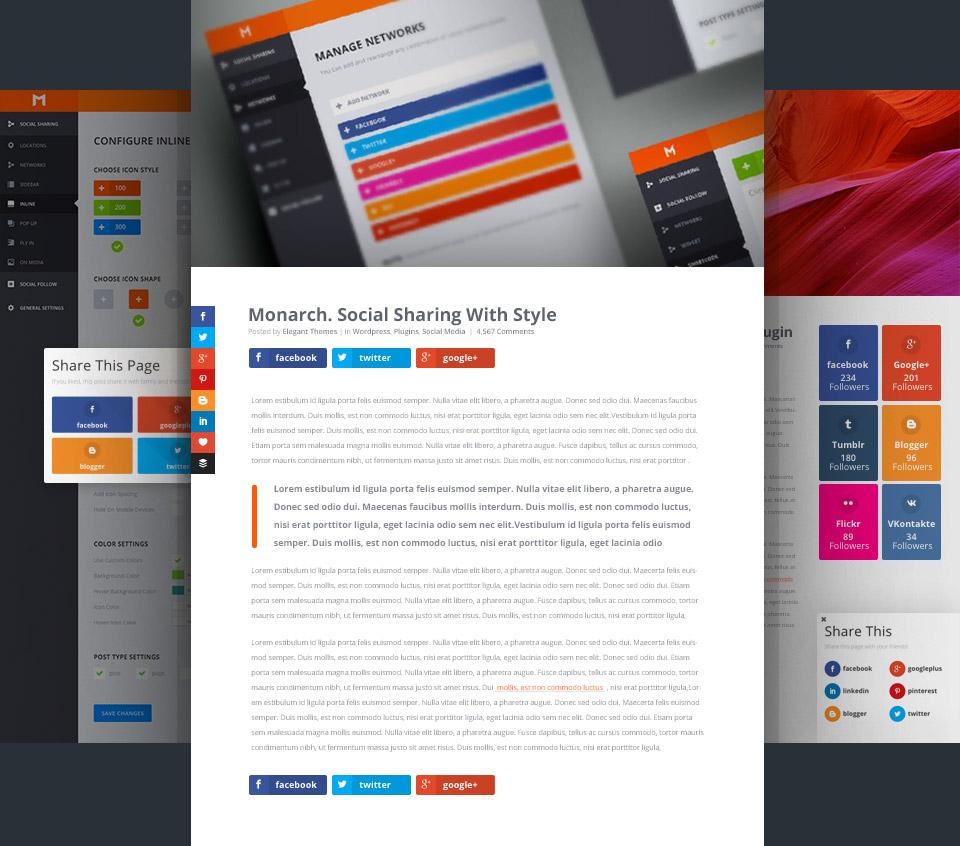 20 Best Social Media Plugins For WordPress monarch