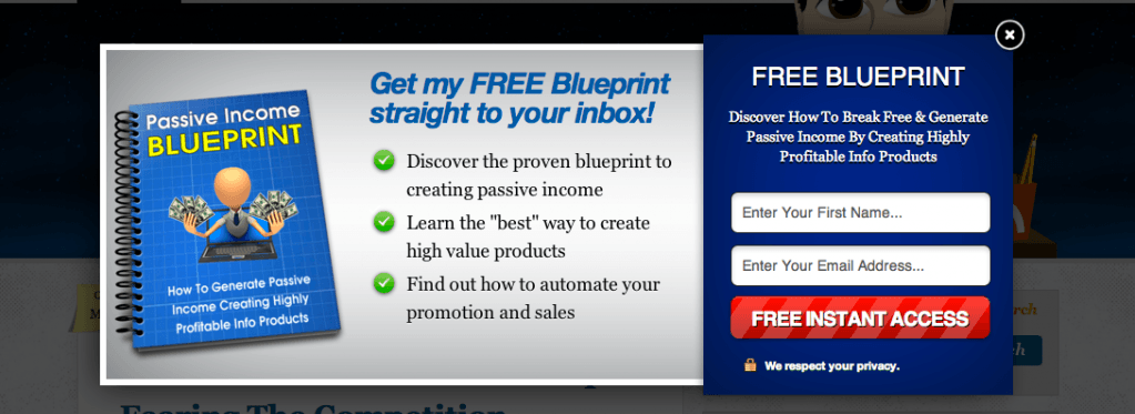 Build Your Email List Popup Optin