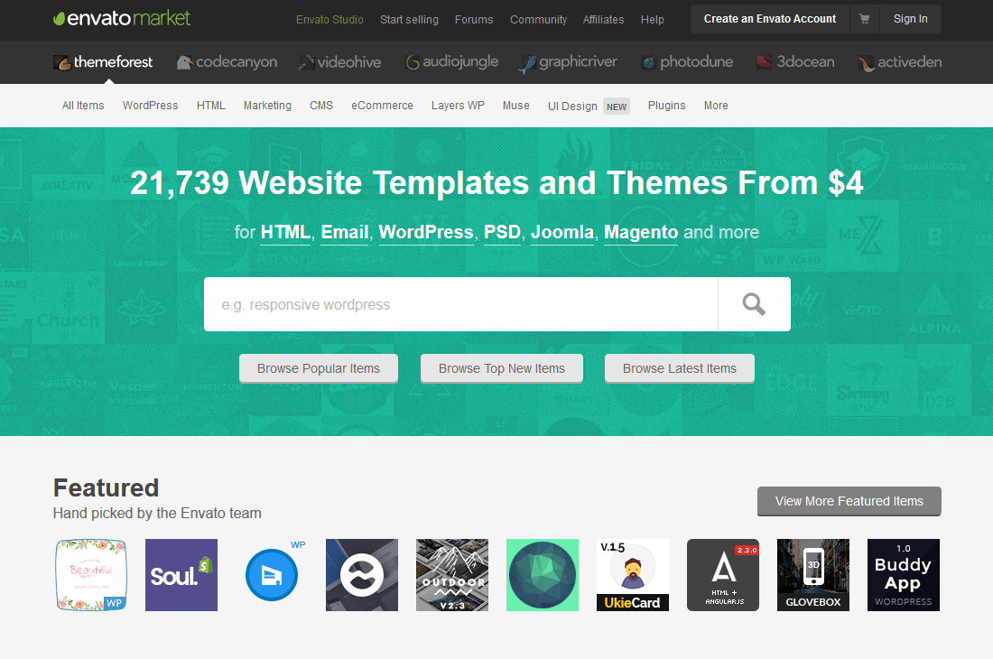 Best Premium WordPress Themes Clubs Themeforest