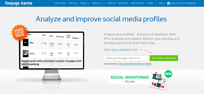 Fanpage Karma Analyse the Social Activities of Your Competitors