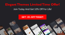 Elegant Themes Deal – Get 10% Off For Life!