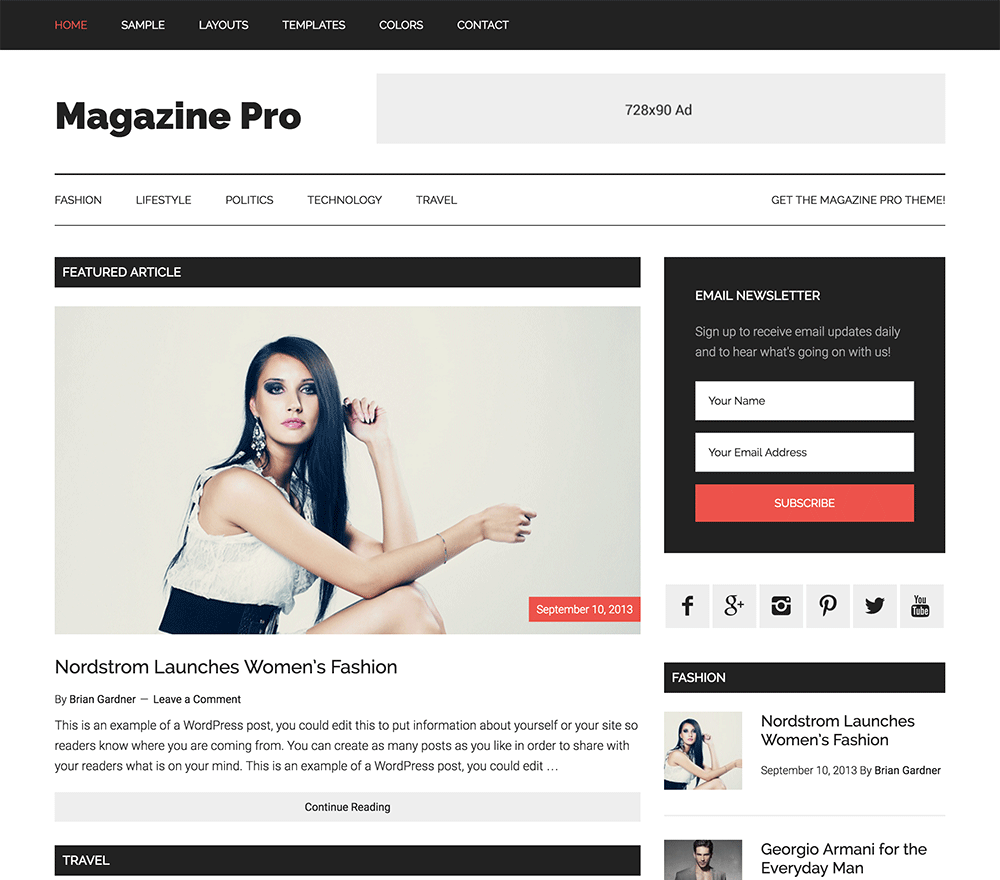 Magazine Pro Best AdSense WordPress Themes for Earning More