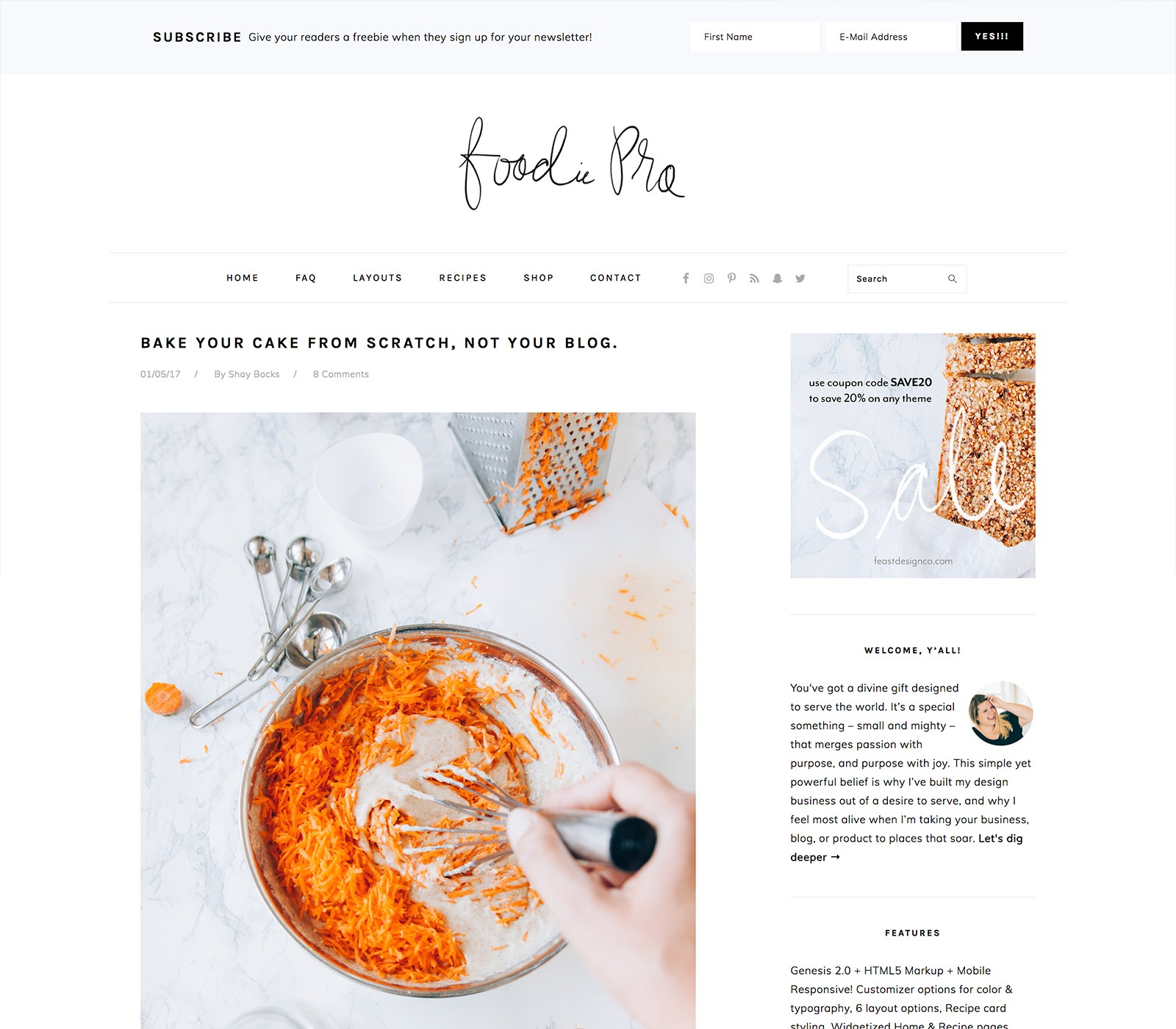 Foodie Pro Top 10 Best Genesis Child Themes For WordPress Blogs