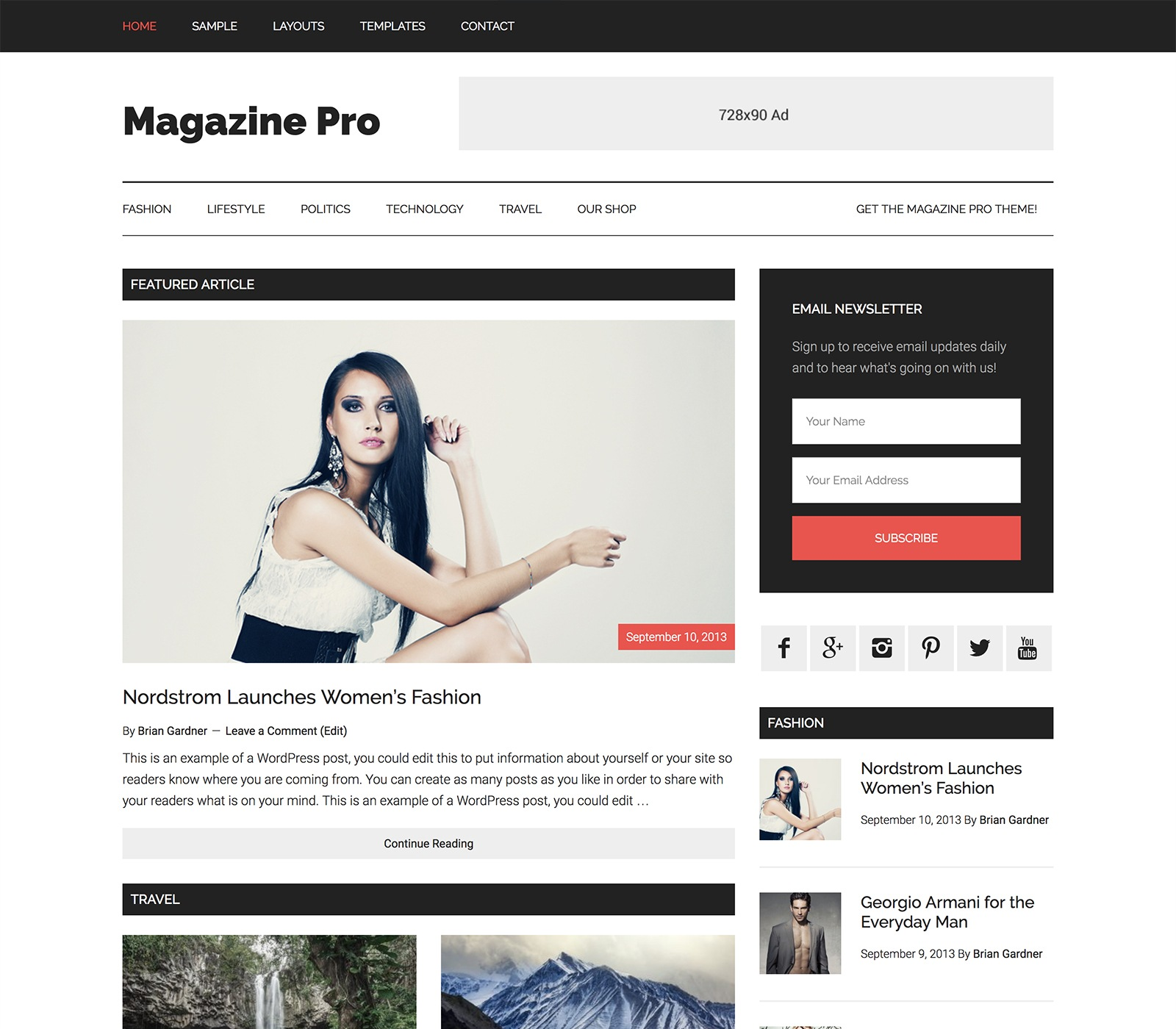 Magazine Pro Top 10 Best Genesis Child Themes For WordPress Blogs