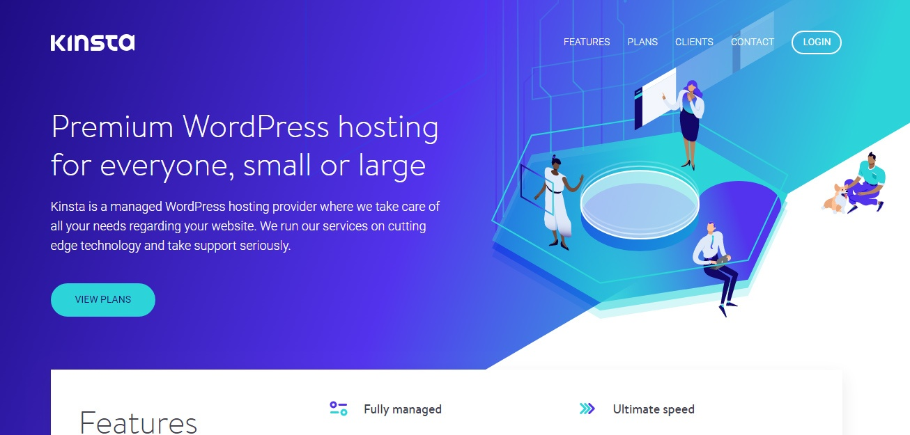 Kinsta managed wordpress hosting woblogger recommended